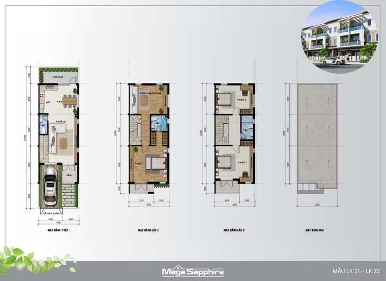 Mẫu nhà phố Mega Residence Khang Điền Quận 9