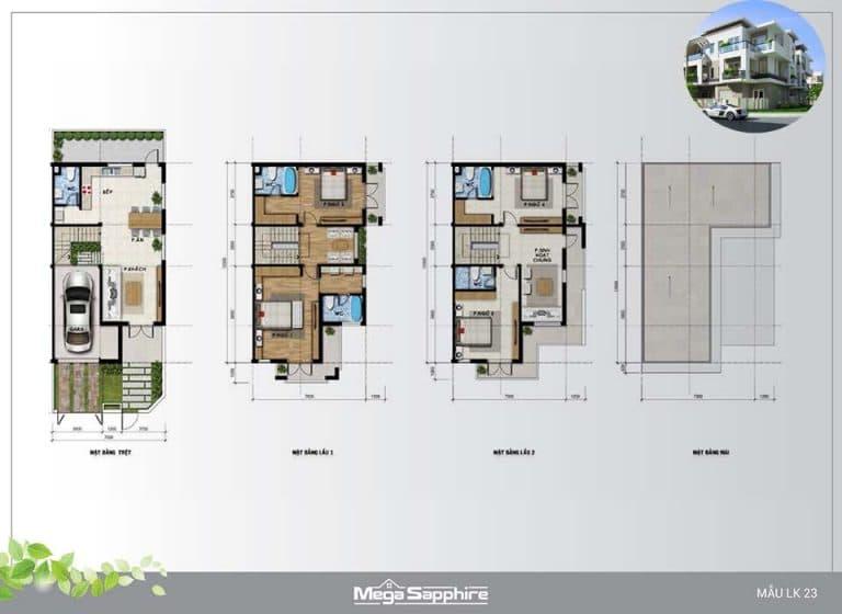 Mẫu nhà Mega Residence Khang Điền Quận 9