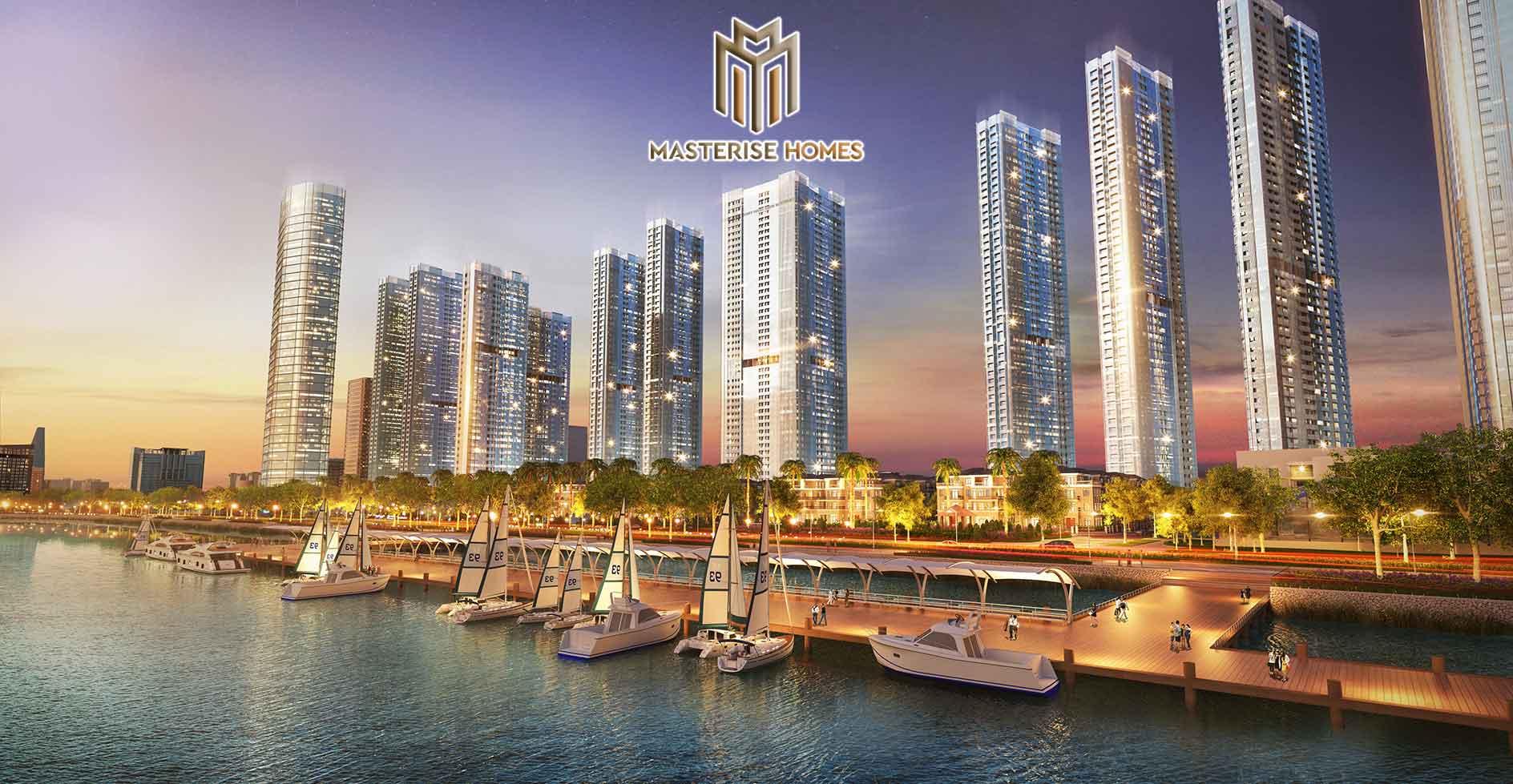 Tiện ích bến du thuyền dọc sông dự án căn hộ Grand Marina Saigon Quận 1