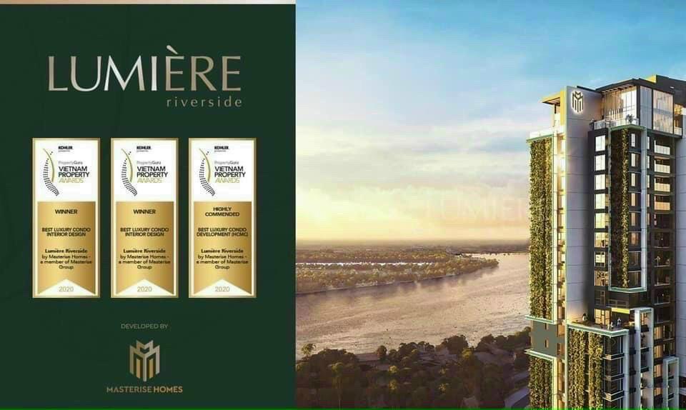 Các giải thưởng mà căn hộ Lumiere Riverside Quận 2 đã đạt được.
