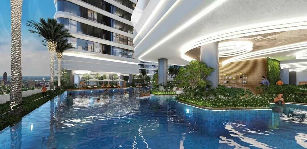 Phối cảnh tiện ích nội khu hồ bơi căn hộ King Crown Infinity Võ Văn Ngân Thủ Đức