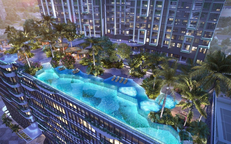 Phối cảnh Hồ bơi tiện ích dự án căn hộ Lumière Riverside Thảo Điền Quận 2