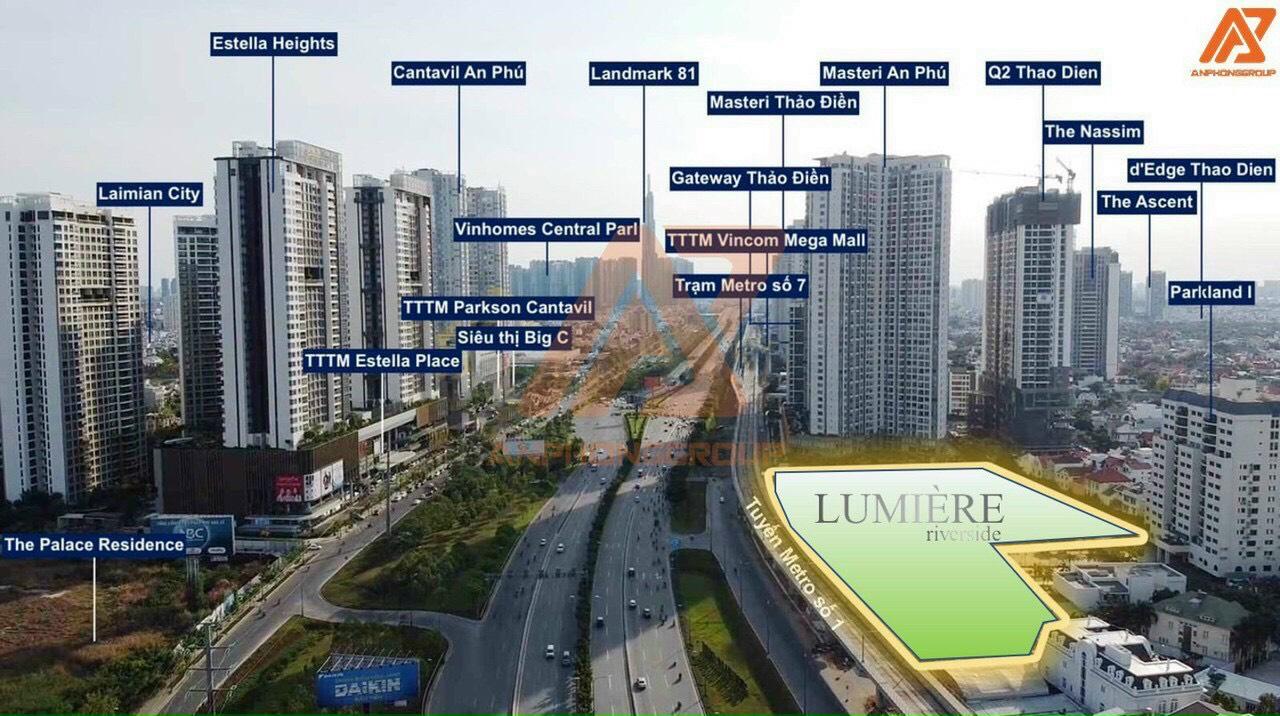 Vị trí chiến lược kết nối thuận tiện tại dự án Masteri Lumiere Riverside An Phú Quận 2