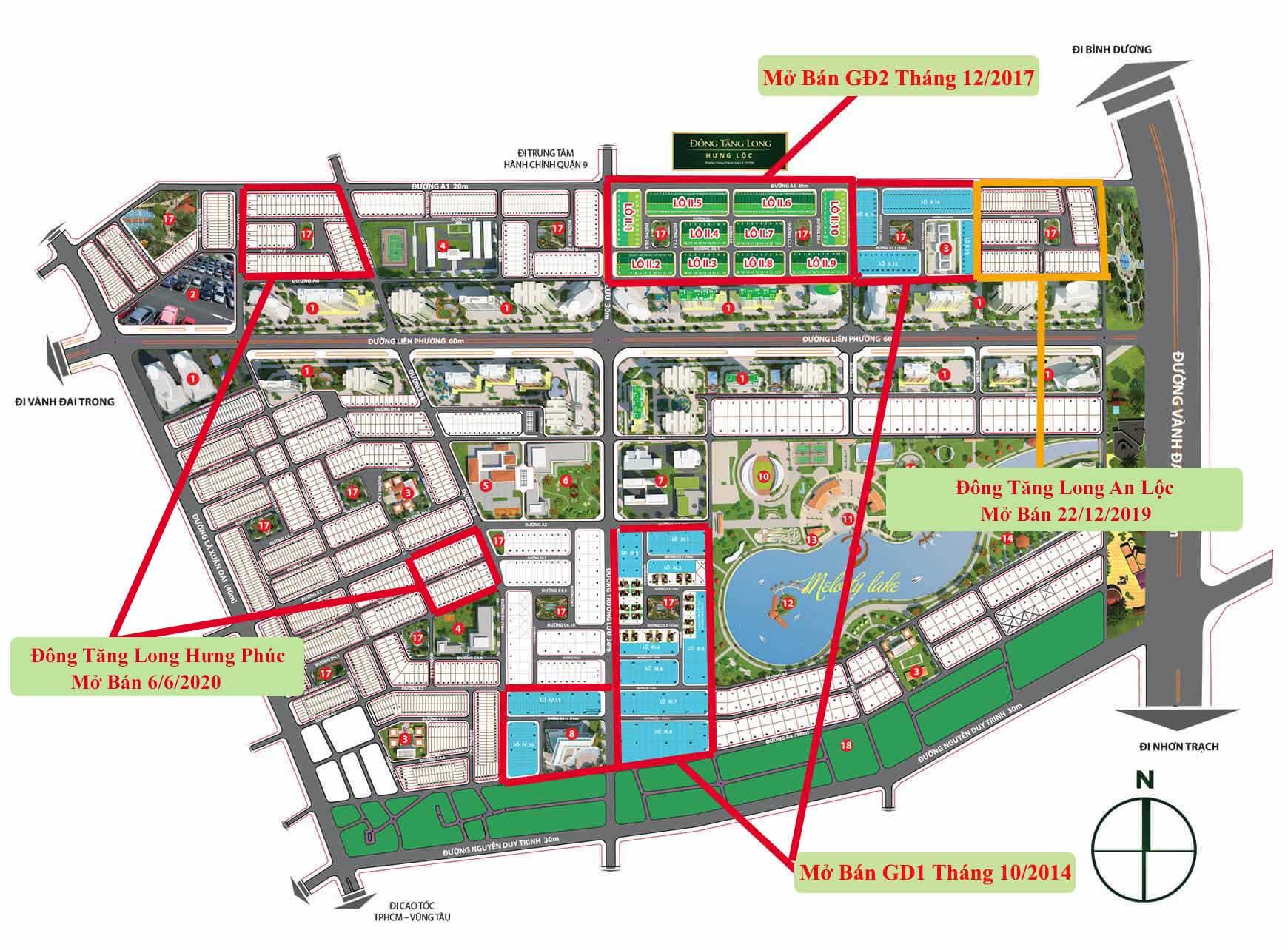 Các đợt và thời gian mở bán dự án Đông Tăng Long Quận 9