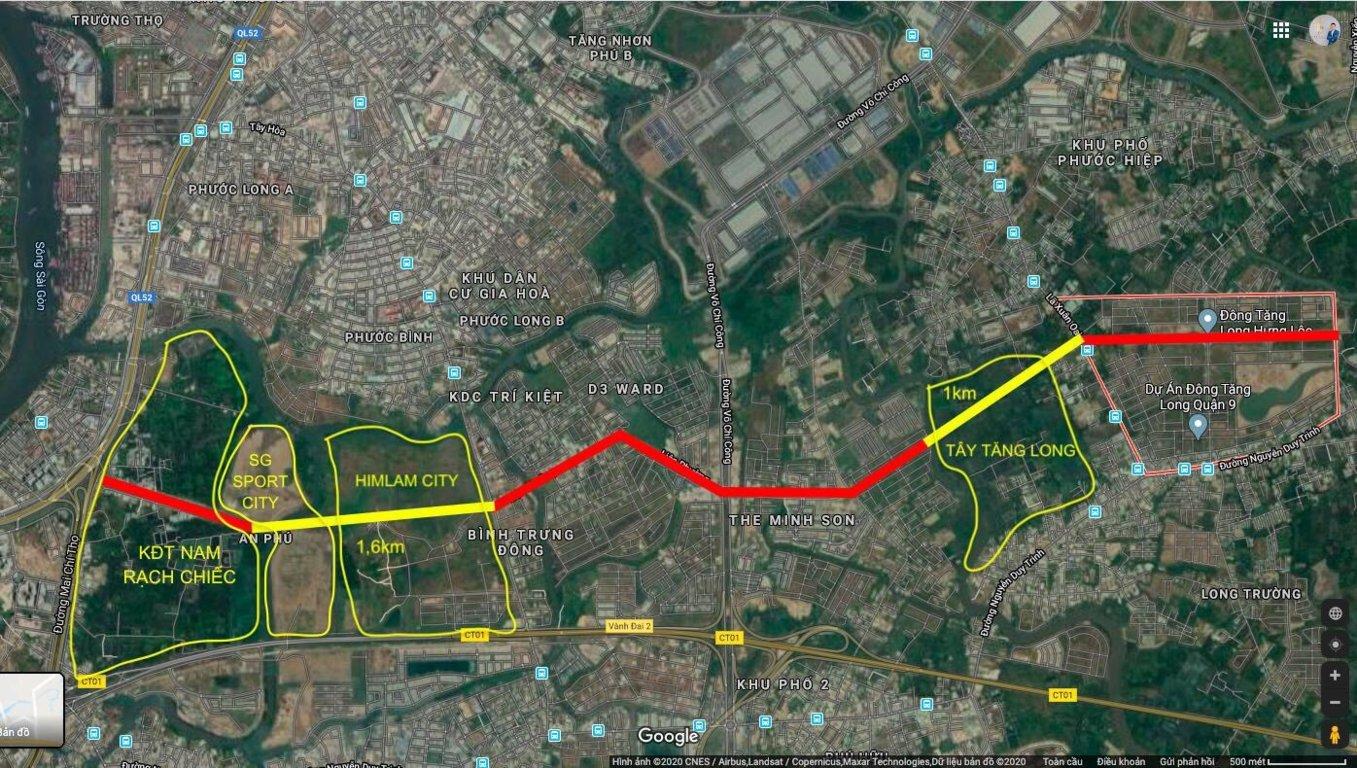 Đường Liên Phường Sẽ Kết Nối từ Khu Đô Thị Đông Tăng Long Qua Khu Rạch Chiếc Nối Thẳng Ra Xa Lộ Hà Nội. Tuyến Đường Trọng Điểm Huyết Mạch Của Thành Phố Mới Thủ Đức
