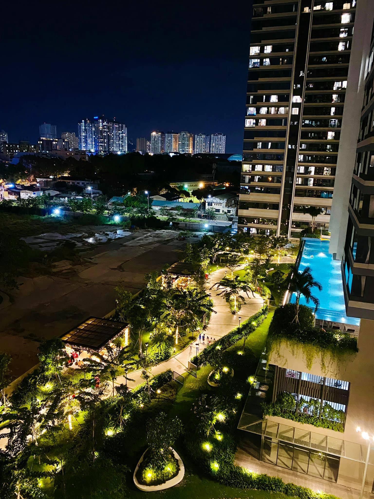 Hình thực tiện ích về đêm dự án căn hộ Kingdom 101 Quận 10