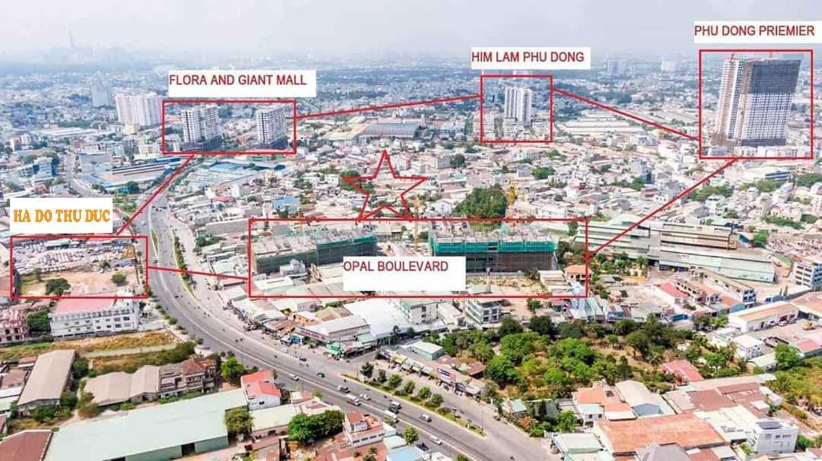 Vị trí Dự Án Căn Hộ Hà Đô Complex Phạm Văn Đồng Thủ Đức