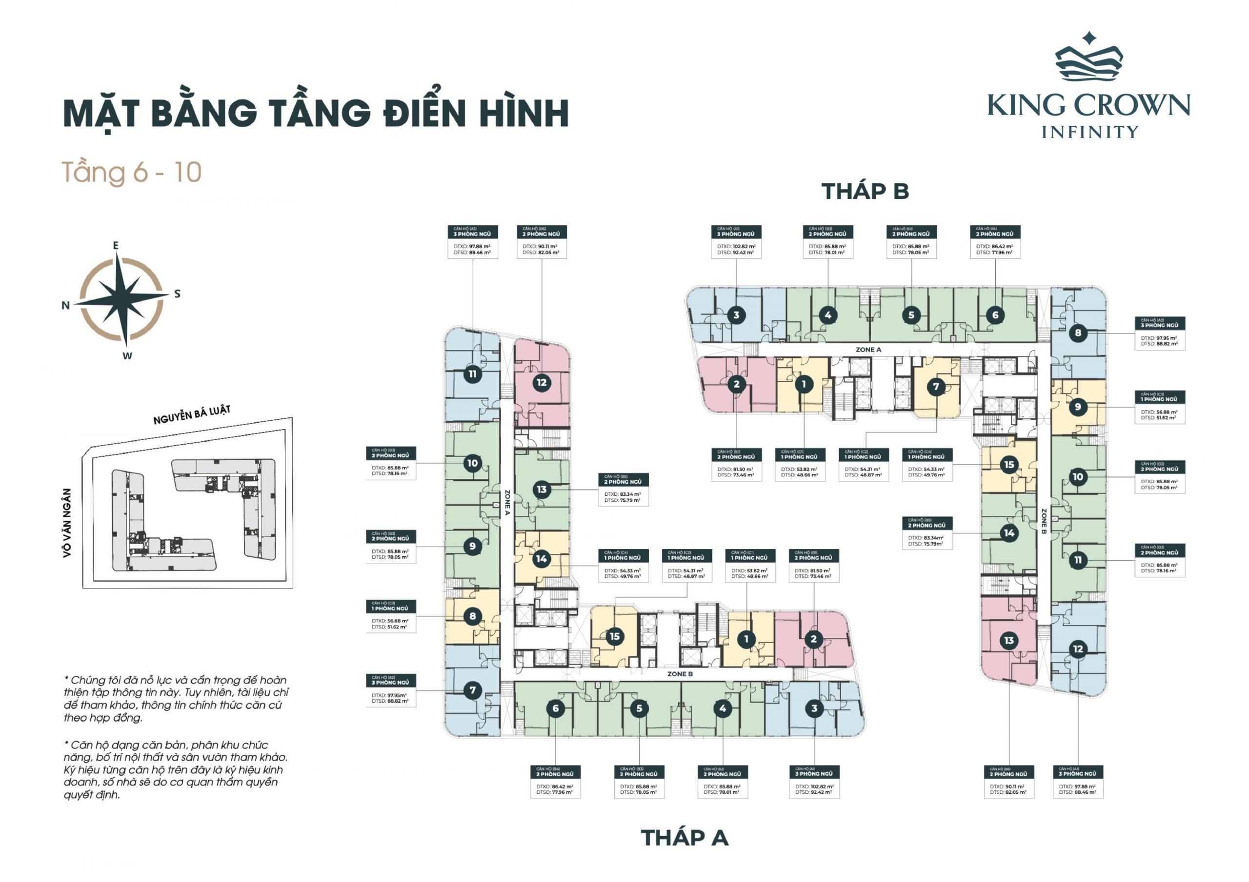 Mặt bằng dự án căn hộ King Crown Infinity Võ Văn Ngân Thủ Đức