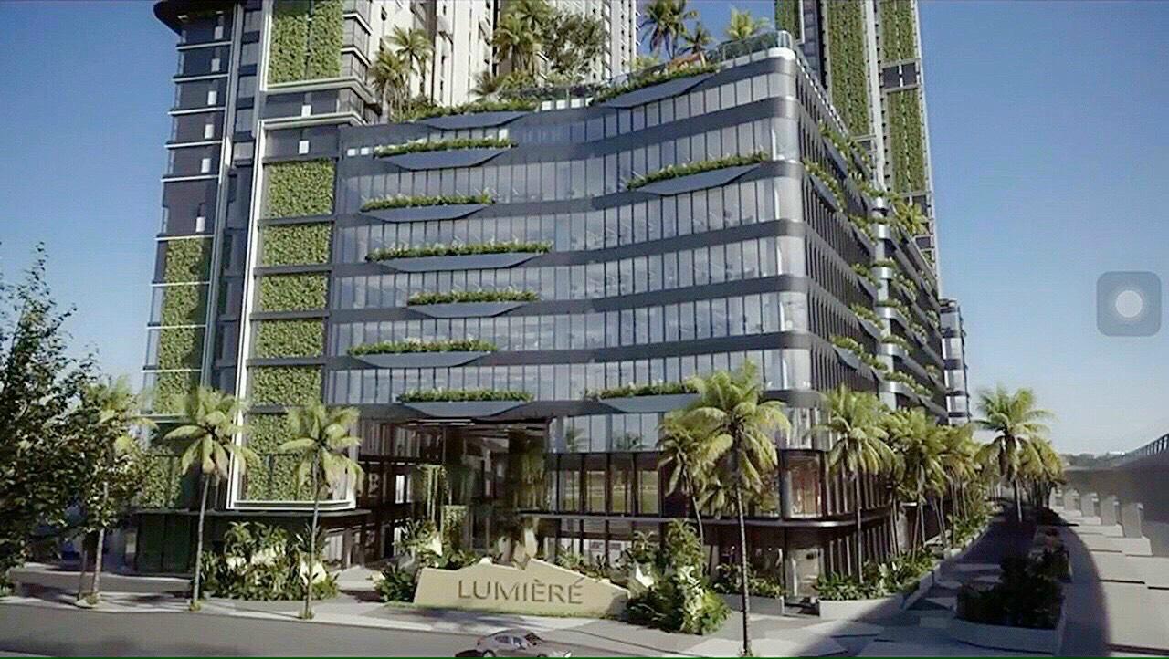 Phối cảnh mặt ngoài trung tâm thương mại căn hộ Masteri Lumiere Riverside An Phú Quận 2