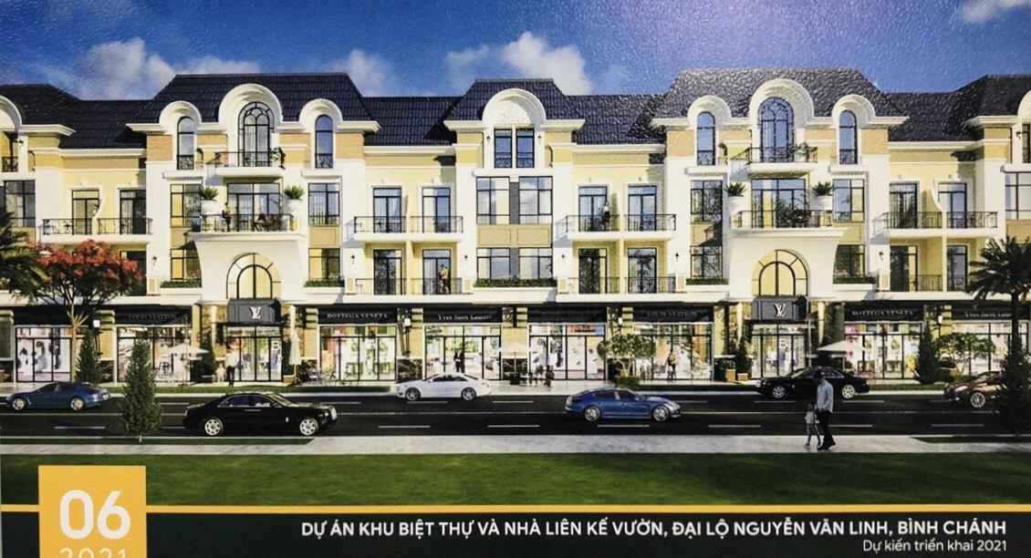 Mẫu nhà dự án biệt thự nhà phố Corona City Khang Điền Bình Chánh Nguyễn Văn Linh