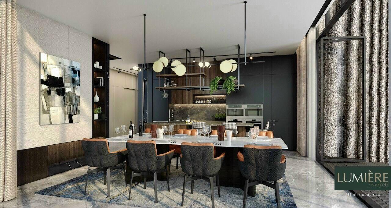 Nội thất phòng bếp căn hộ Masteri Lumiere Riverside An Phú Quận 2