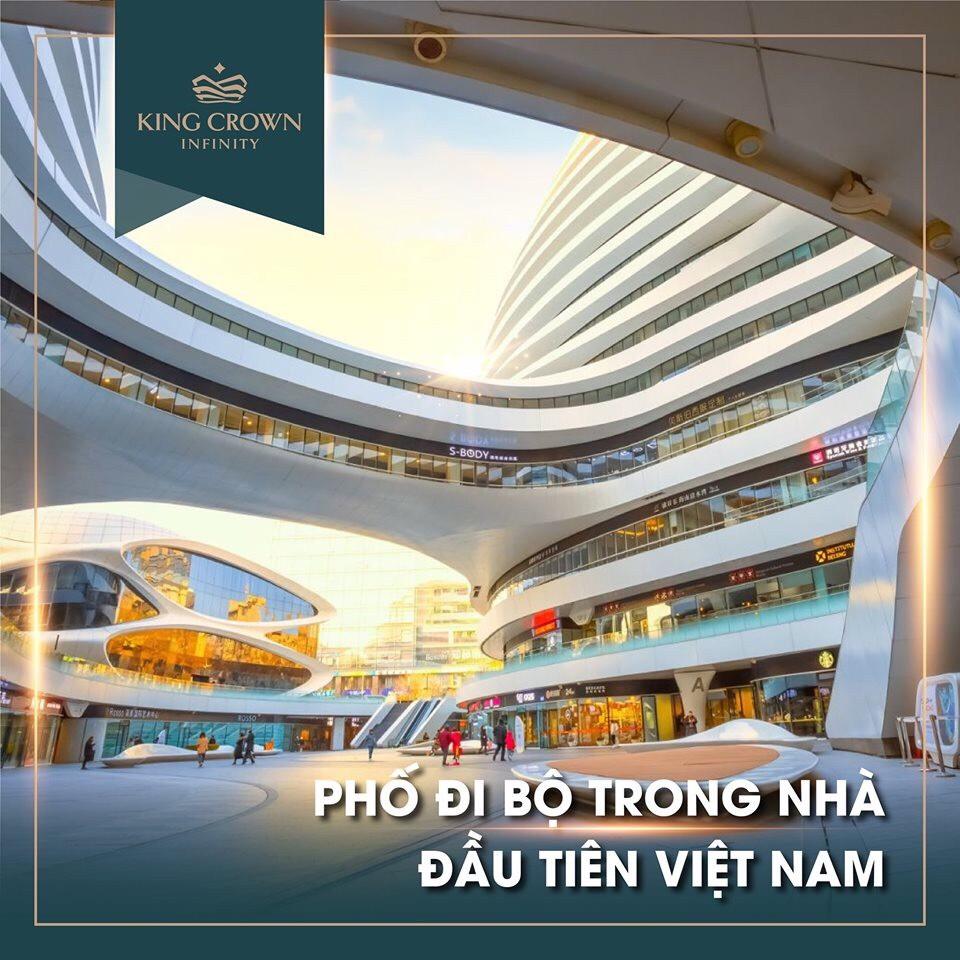 Phố đi bộ trong nhà đầu tiên tại Việt Nam chỉ có ở King Crown Infinity Thủ Đức