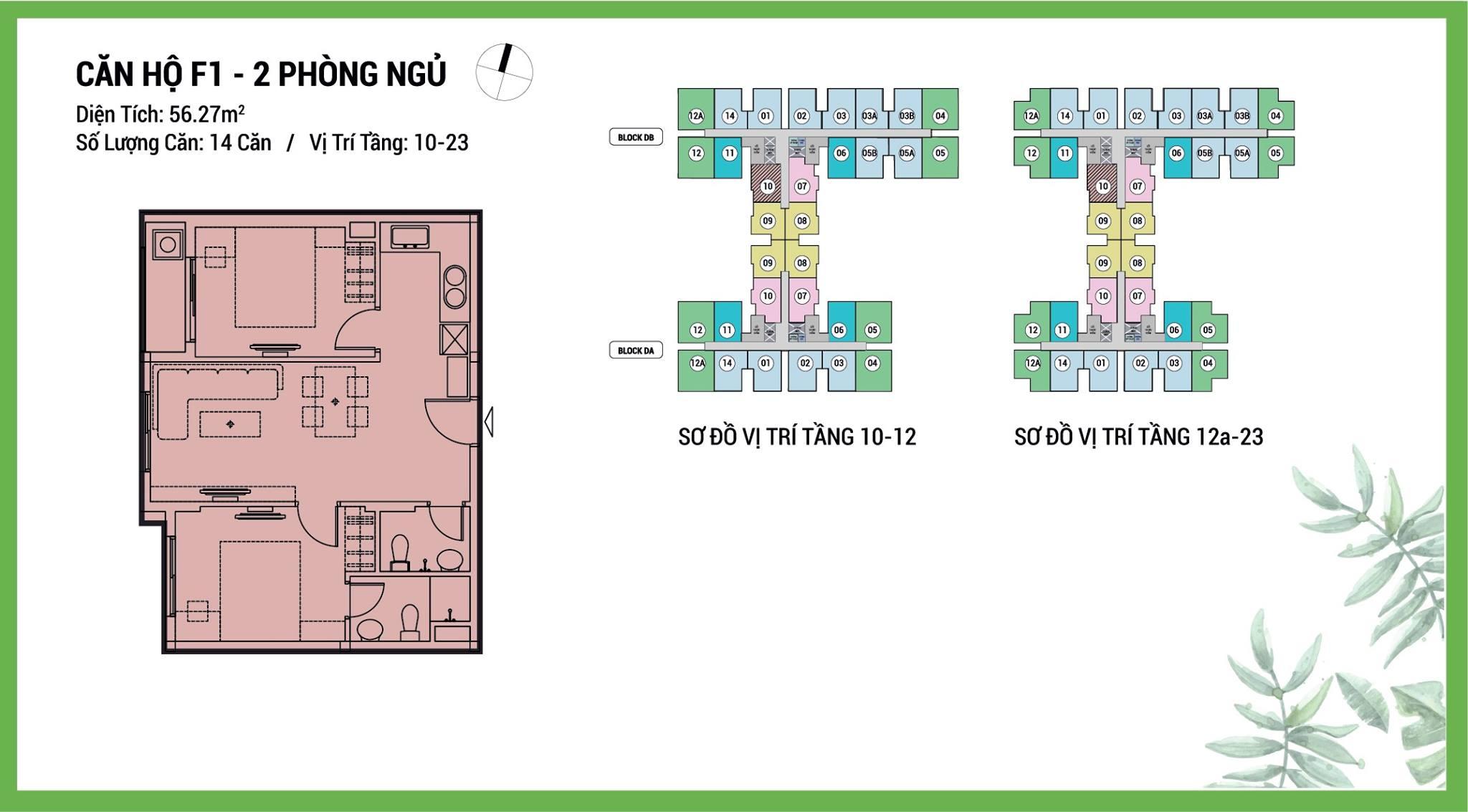 Thiết kế căn 2pn dự án căn hộ Dream Home Riverside Quận 8