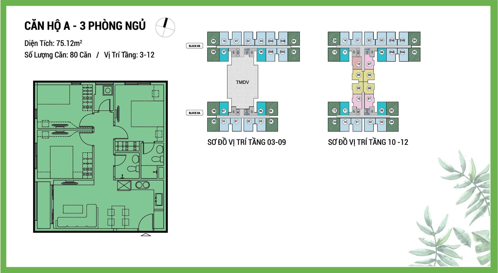Thiết kế căn 3pn dự án căn hộ Dream Home Quận 8