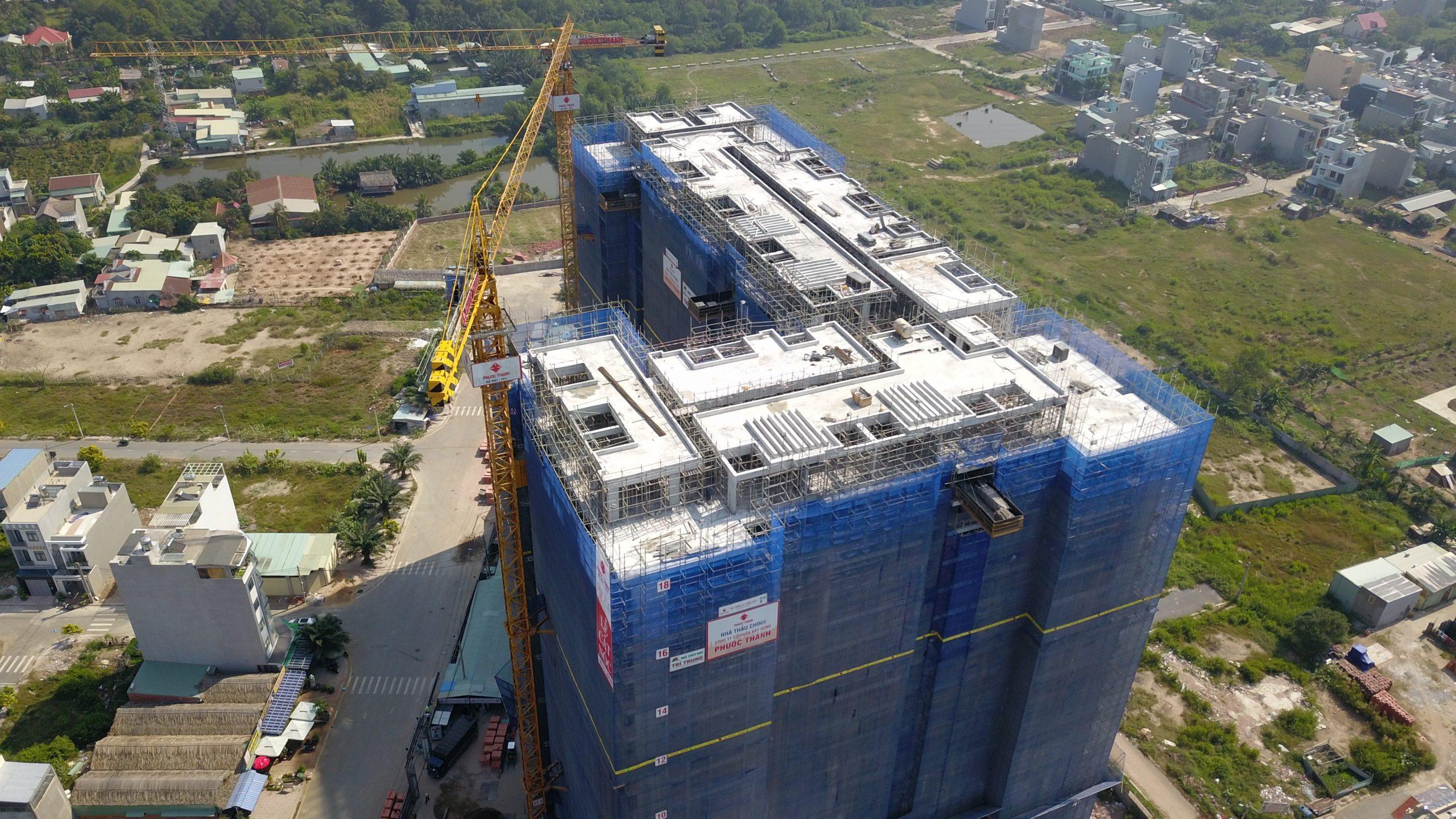 Tiến độ thi công cập nhật mới nhất dự án căn hộ Ricca Quận 9 Điền Phúc Thành