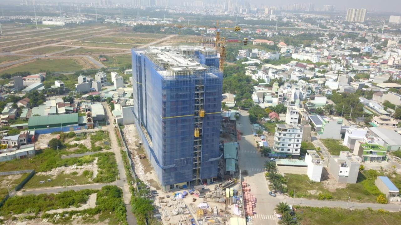 Tiến độ thi công cập nhật mới nhất dự án căn hộ chung cư Ricca Quận 9 Điền Phúc Thành