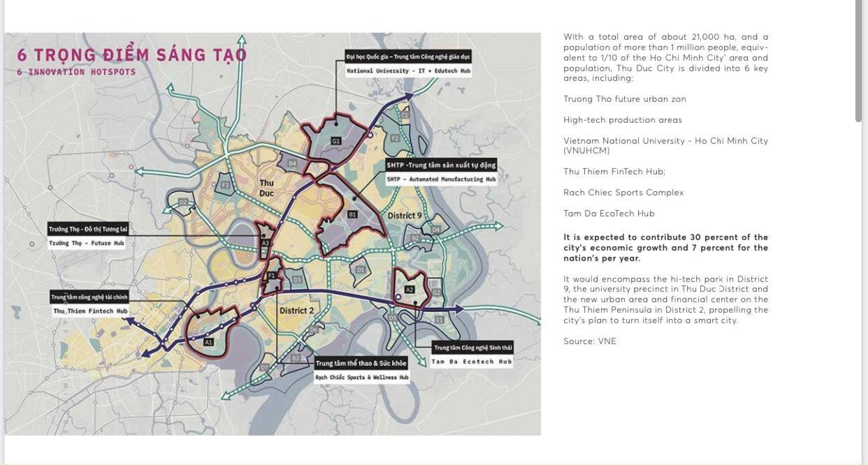 6 trong điểm sáng tạo thành phố mới Thủ Đức bao bọc quanh dự án The 9 Stellars
