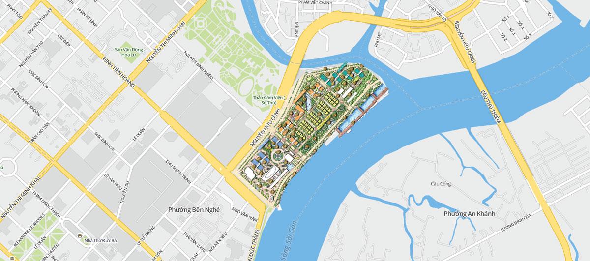 Vị trí quỹ đất dự án căn hộ Grand Marina Saigon Quận 1