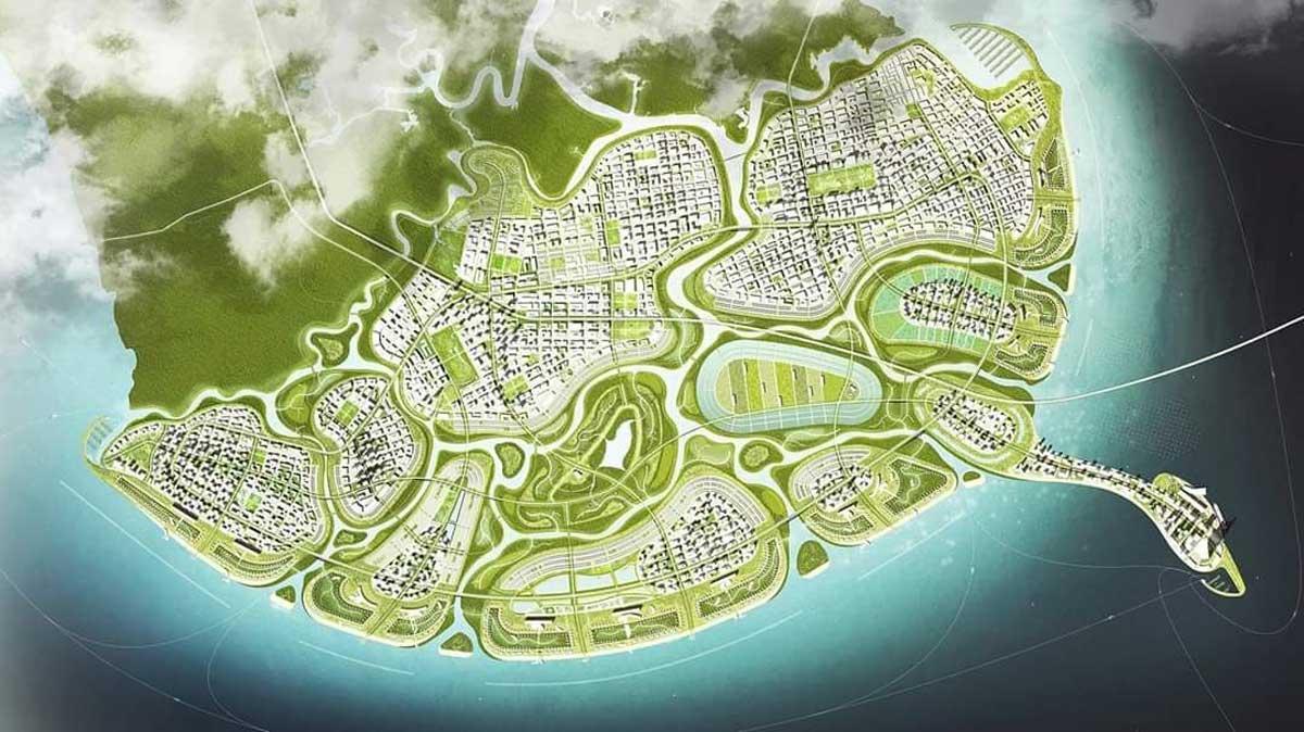 Măt bằng tổng liền kê khu đô thị lấn biển Vinhomes Cần Giờ