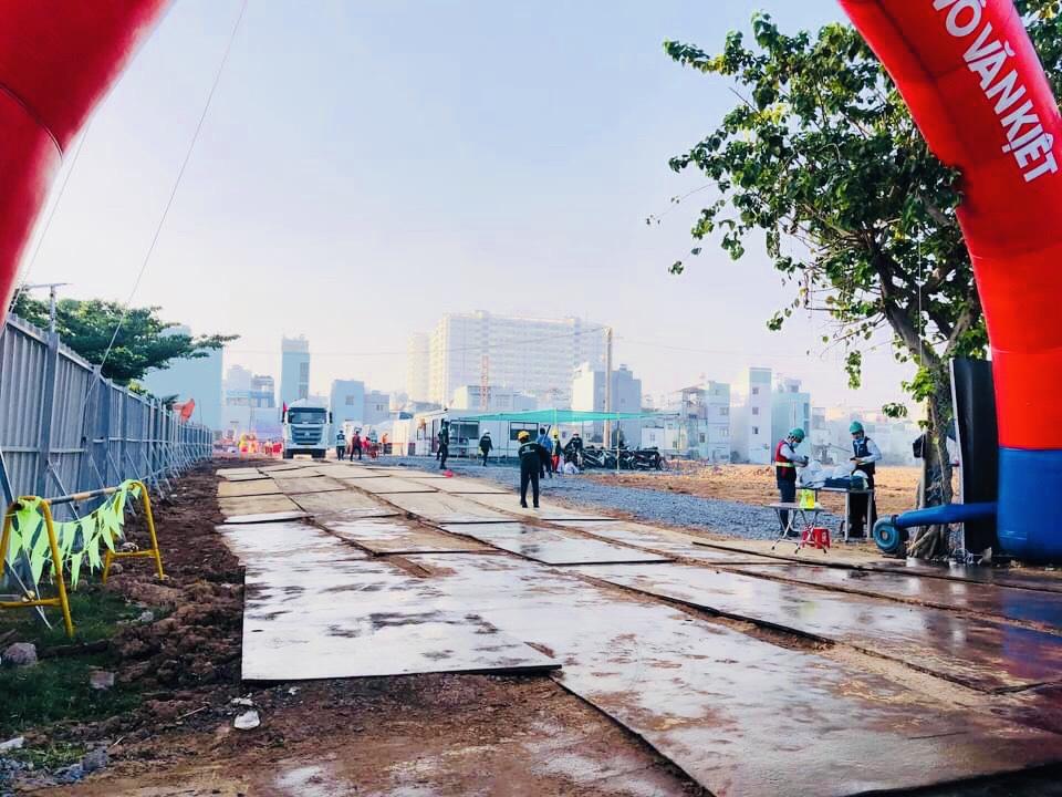 Hình ảnh thực tế Lễ khởi công nhà điều hành dự án Stella Võ Văn Kiệt sáng nay, do nhà thầu Newteccon xây dựng