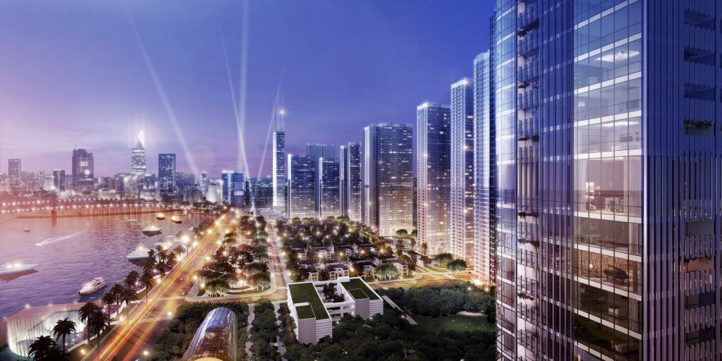 Phối cảnh về đêm tại dự án Grand Marina Saigon Quận 1