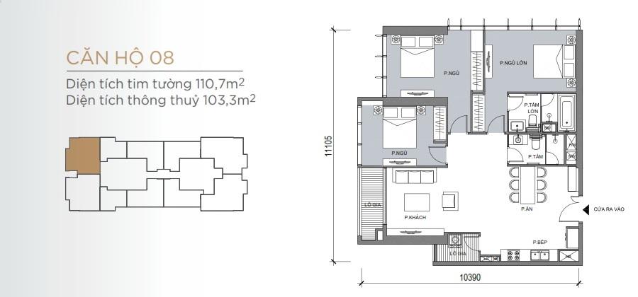 Thiết kế mẫu số 08 căn hộ Grand Marina Saigon Quận 1