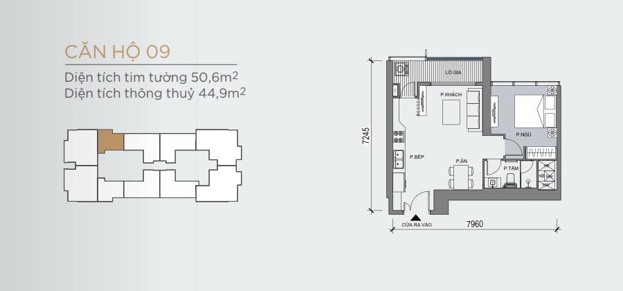 Thiết kế mẫu số 09 căn hộ Grand Marina Saigon Quận 1