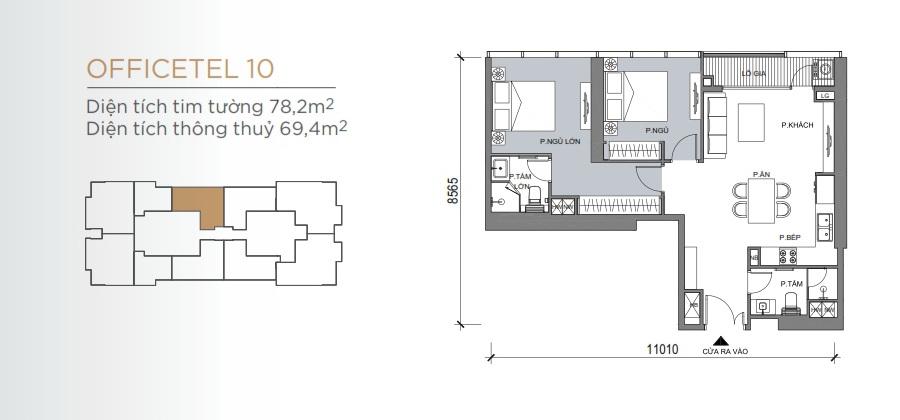 Thiết kế mẫu số 10 căn hộ Grand Marina Saigon Quận 1