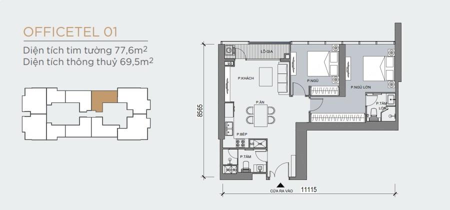 Thiết kế mẫu số 01 căn hộ Grand Marina Saigon Quận 1