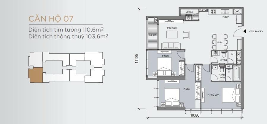 Thiết kế mẫu số 07 căn hộ Grand Marina Saigon Quận 1