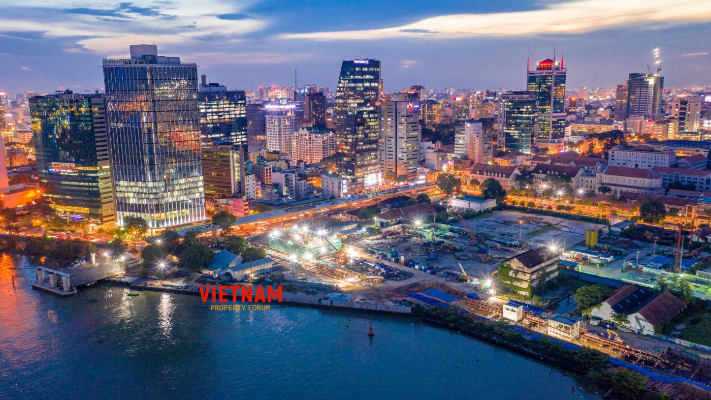 Một góc nhìn trung tâm thành phố sầm uất nhất Sài Gòn từ dự án căn hộ Grand Marina Saigon Quận 1