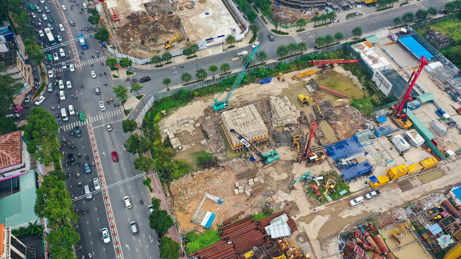 Tiến độ xây dưng phần móng dự án căn hộ Grand Marina Saigon Quận 1