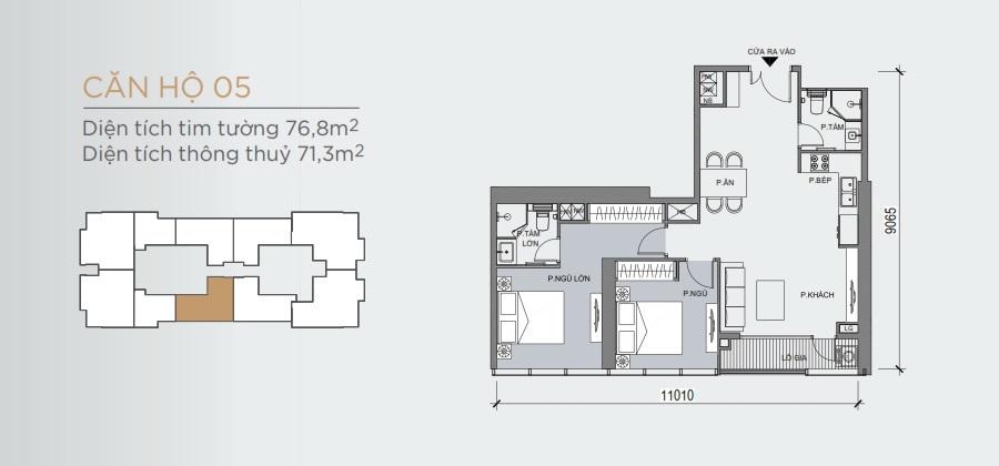 Thiết kế mẫu số 05 căn hộ Grand Marina Saigon Quận 1