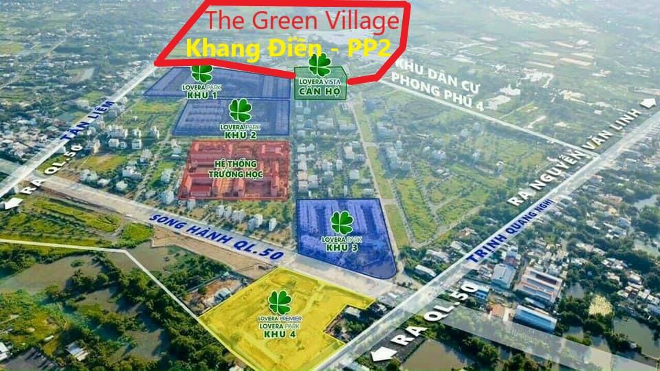 Vị trí quý đất dự án The Green Village Khang Điền Bình Chánh. Khu Dân Cư Phong Phú 2 tiếp giáp Phong Phú 4 các dự án Khang Điền