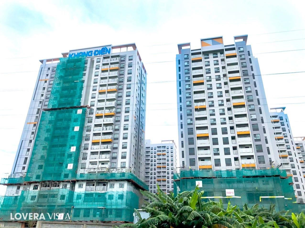 Tiến độ cập nhât mới nhất phối cảnh sắp hoàn thiện dự án căn hộ Lovera Vista Khang Điền.