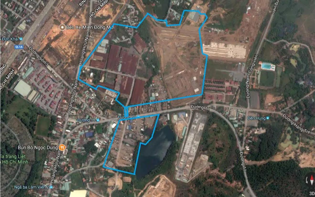 Vị trí từ vệ tinh dự án nhà phố căn hộ The 9 Stellars Quận 9.