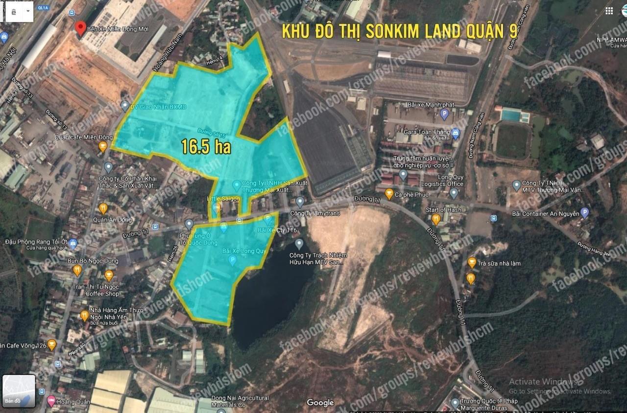 Mặt bằng tổng khu quỹ đất dự án The 9 Stellars Sơn Kim Land Quận 9 Thủ Đức
