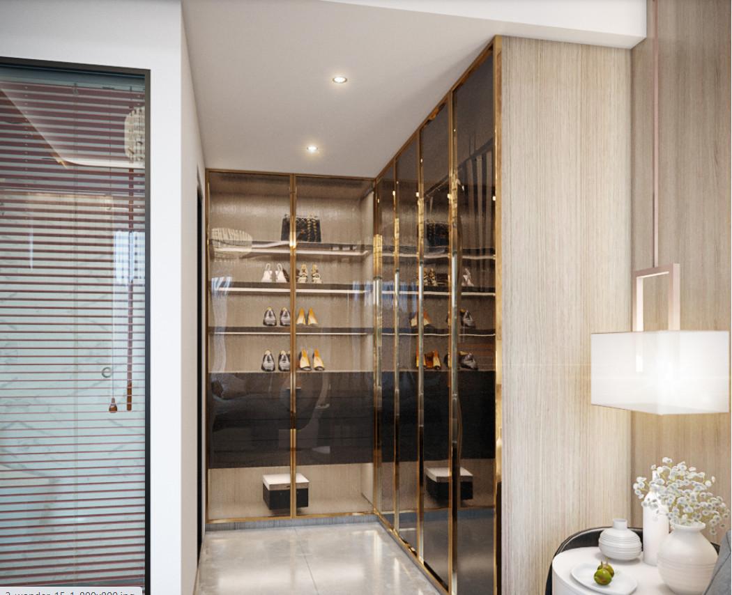 Hình ảnh nội thất tủ quần áodự án căn hộ Stella En Tropic Võ Văn Kiệt
