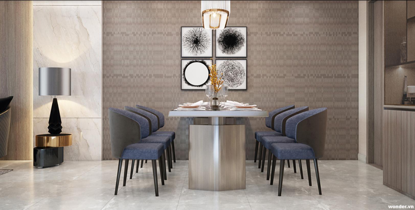 Hình ảnh nội thất bàn ăn dự án căn hộ Stella En Tropic Võ Văn Kiệt