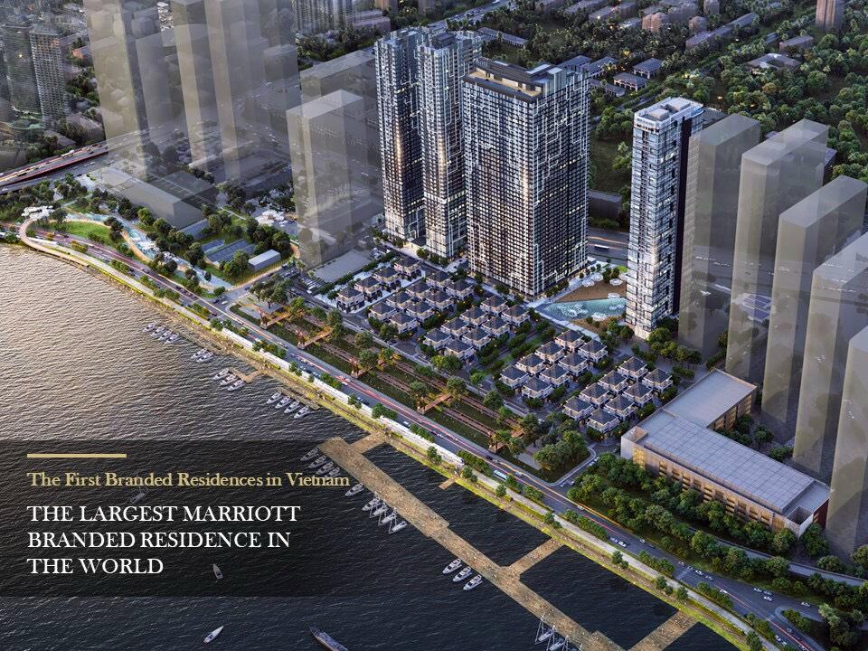 Phối cảnh các tháp sẽ mở bán đợt 1 dự án Grand Marina Saigon Masterise Homes