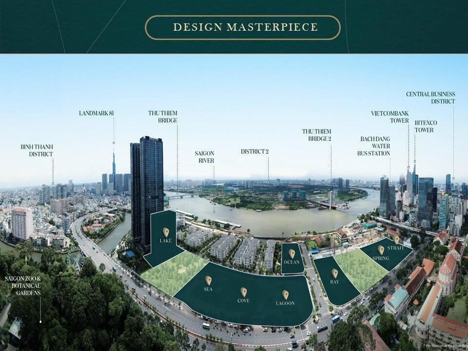 Mặt bằng tổng thể khu vực dự án Grand Marina Sài Gòn Quận 1