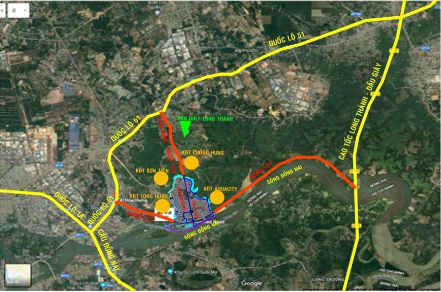 Vị trí chính xác quỹ đất dự án nhà phố biệt thự Izumi Nam Long