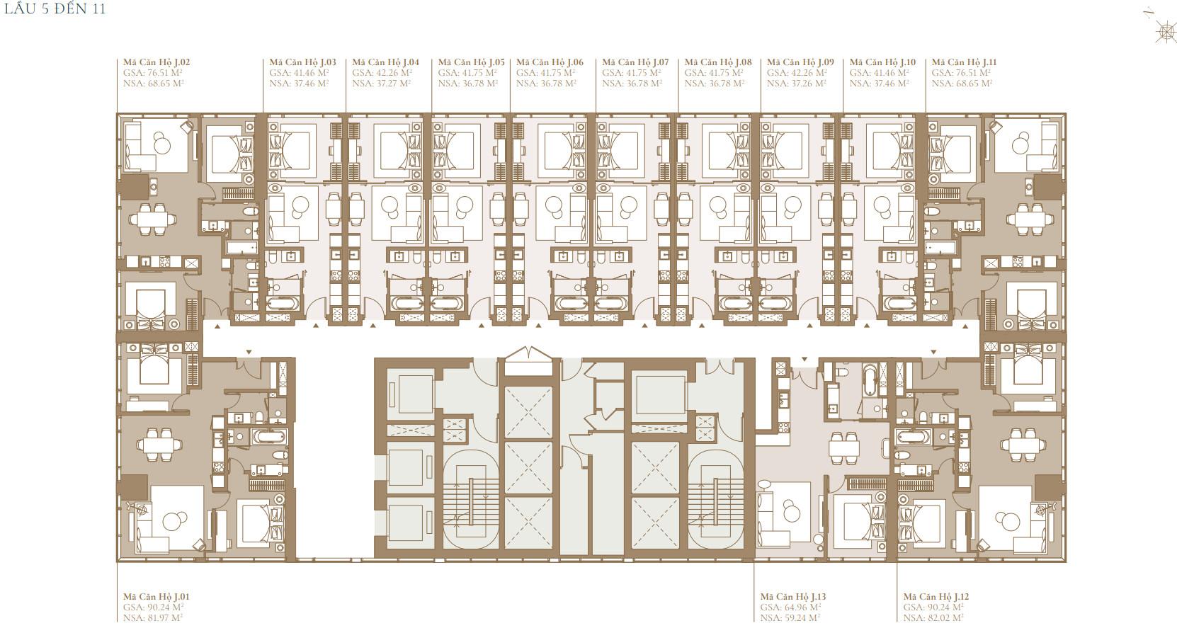 Măt bằng thiết kế tòa LAGACY COVE dự án Grand Marina Sài Gòn Quận 1