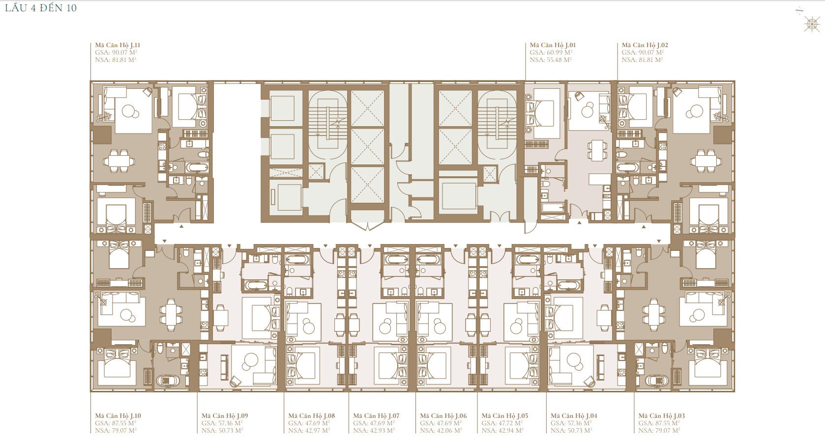 Măt bằng thiết kế tòa LAGACY LAGOON dự án Grand Marina Sài Gòn Quận 1