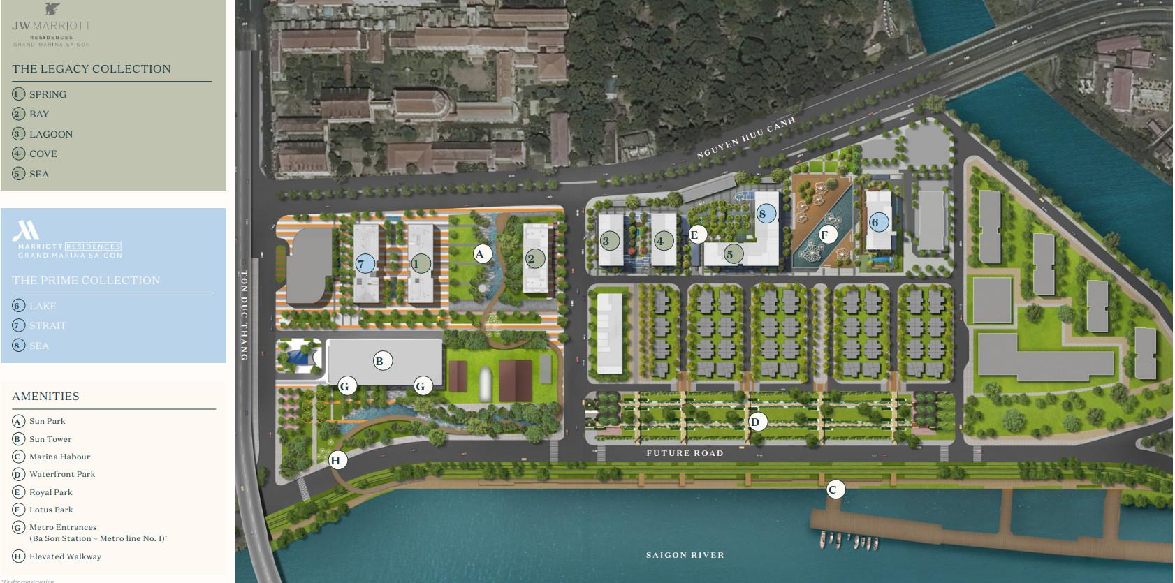 Mặt bằng tổng thể toàn khu dự án Grand Marina Sài Gòn