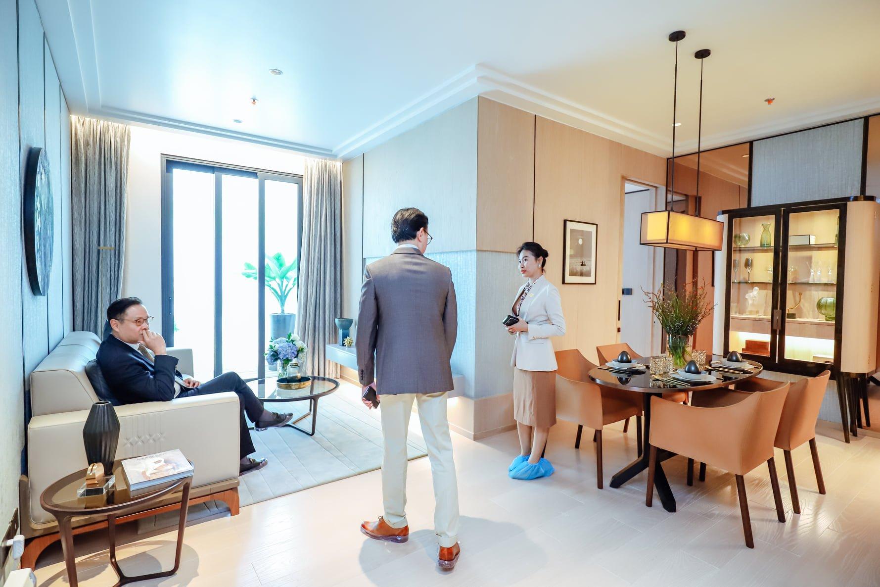 Nhà mẫu căn hộ Grand Marina Saigon Quận 1 đón những vị khách đầu tiên tham quan và trải nghiệm
