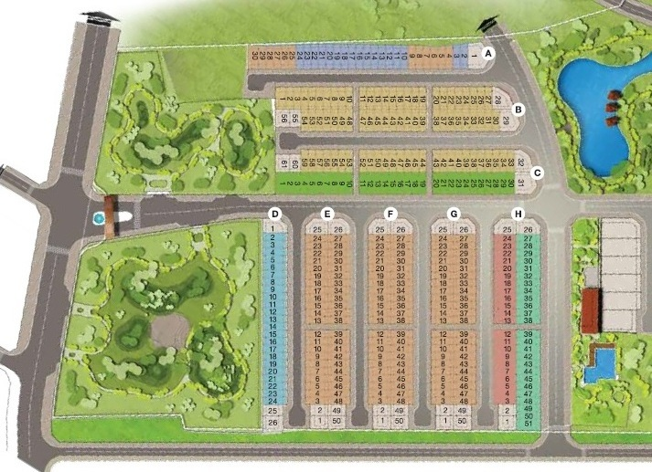 Mặt bằng Giai đoạn 1 dự án Park Riverside MIK Quận 9