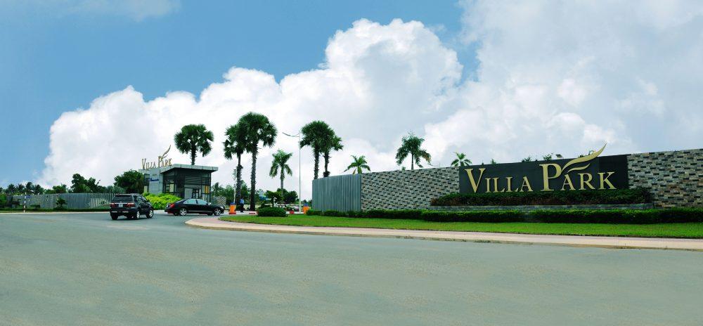 Cổng vào dự án Villa Park Quận 9 mặt tiền đường Bưng Ông Thoàn