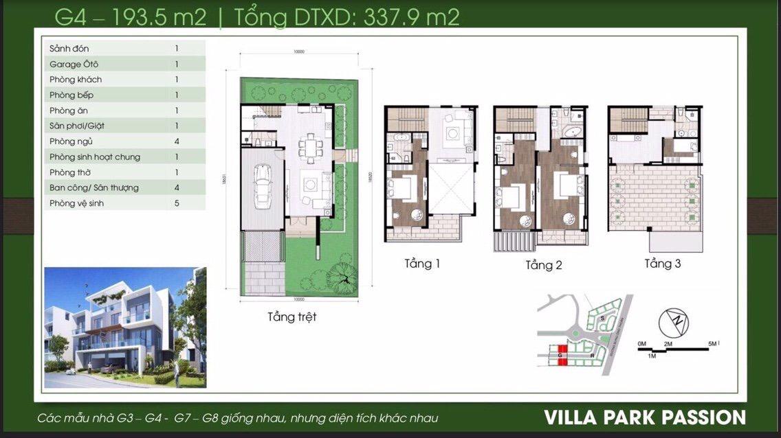 Thiết kế căn biệt thự song lập dự án Villa Park Quận 9 MIK