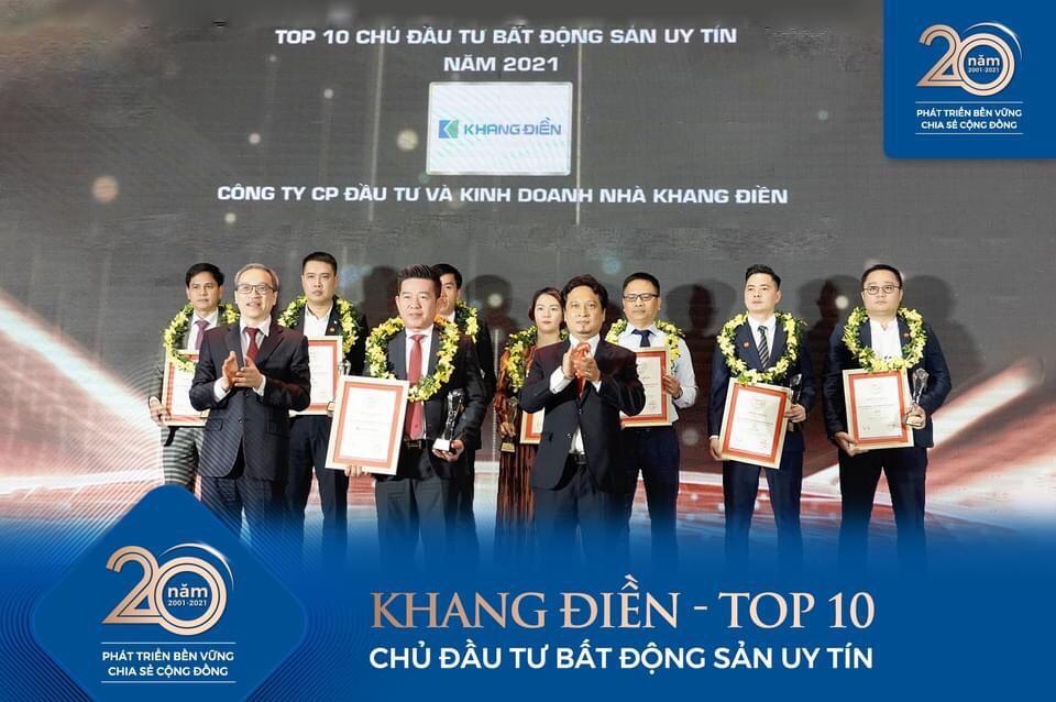 KHANG ĐIỀN ĐẠT TOP 10 CHỦ ĐẦU TƯ BẤT ĐỘNG SẢN UY TÍN